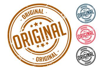 Obraz four original rubber seal stamp set design - fototapety do salonu