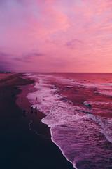 Fototapeten Rosa Lovey Scenic View Of Sea Against Sky At Sunset