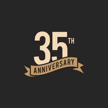35th Years Anniversary Celebration Icon Vector Logo Design Template