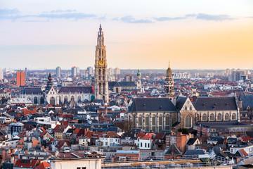 Stores à enrouleur Antwerp Antwerp sunset