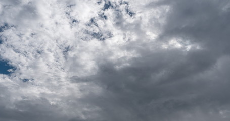 Time lapse of flying clouds nature background no birds, no flicker Fotobehang