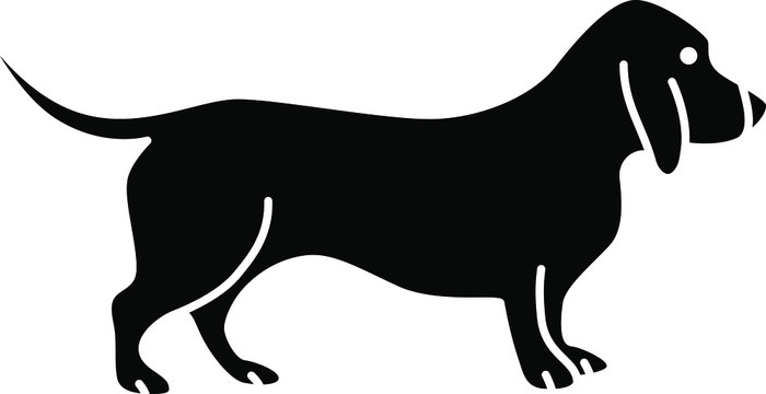 An icon illustration of a Bassett Hound
