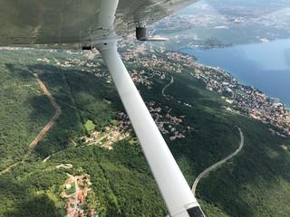 Mit dem Kleinflugzeug über Kroatien