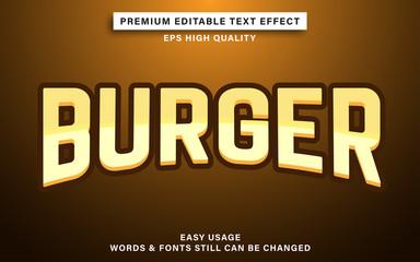 Wall Mural - burger text effect