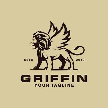 Griffin Logo Design Template Idea