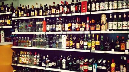 Varieties Of Liquor For Sale In Store