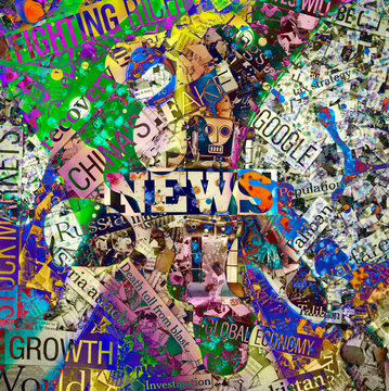 fake news concept with abstract color