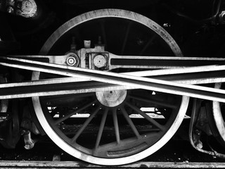 Cropped Image Of Train On Railroad Track