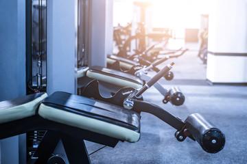leg trainer equipment in modern gym