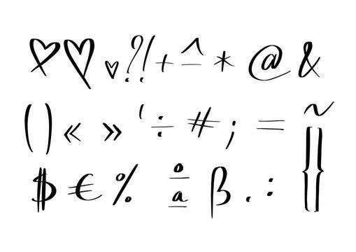 hand written symbols