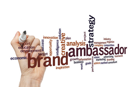 Brand ambassador word cloud concept