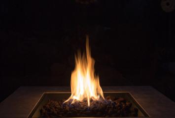 Fotomurales - Close-up Of Bonfire At Night