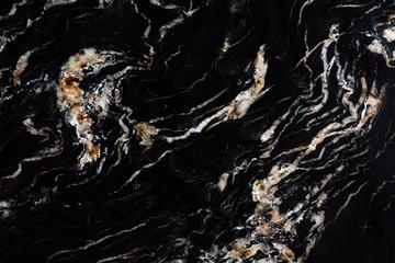 Wall Mural - Natural black granite background for your individual design work.