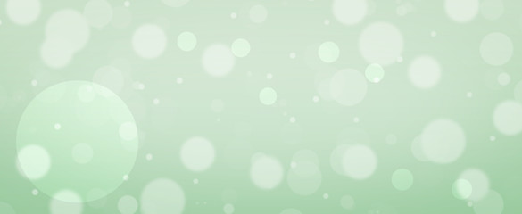 Glowing green circles.  Spring concept.  Blurred bokeh circles.  Website banner.  Celebration. Wall mural
