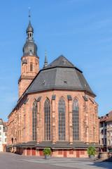 Heiliggeistkirche Heidelberg Altstadt Fußgängerzone Kirche