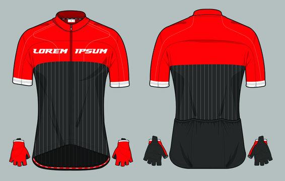 Cycling jersey uniform a vector template design