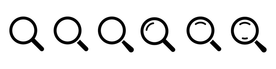 Obraz MAgnifying glass loupe. Vector isolated icon. Search icon vector. Magnifier loupe sign. - fototapety do salonu