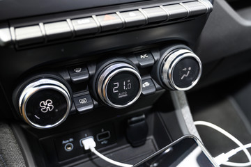Renault ZOE climate control buttons