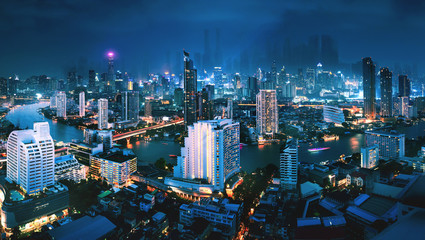 Wall Mural - Futuristic Bangkok city