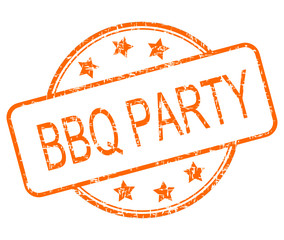 BBQ Party rubber stamp - illustration