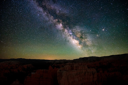 Center of the milky way in dark skies of Bryce canyon