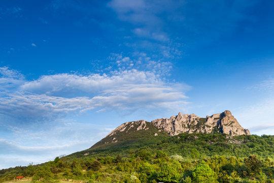 Pech de Bugarach mount in the south of France