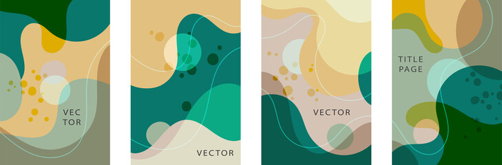 Abstract geometric pattern background texture for poster cover design. Minimal color vector banner template with circles and squares. Vector illustration.