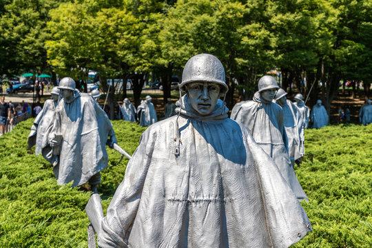 Korean War Veterans Memorial in Washington