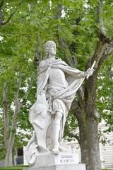 Wall Mural - Madrid Royal Palace sculpture