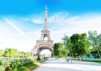 Foto auf Gartenposter Paris eiffel tour and Paris cityscape