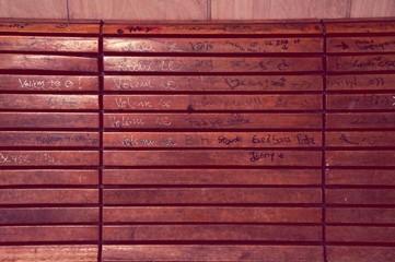 Graffiti Covered Bench
