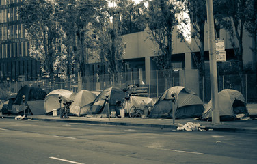 Homeless in San Francisco sheltering in place during the COVID-19 pandemic