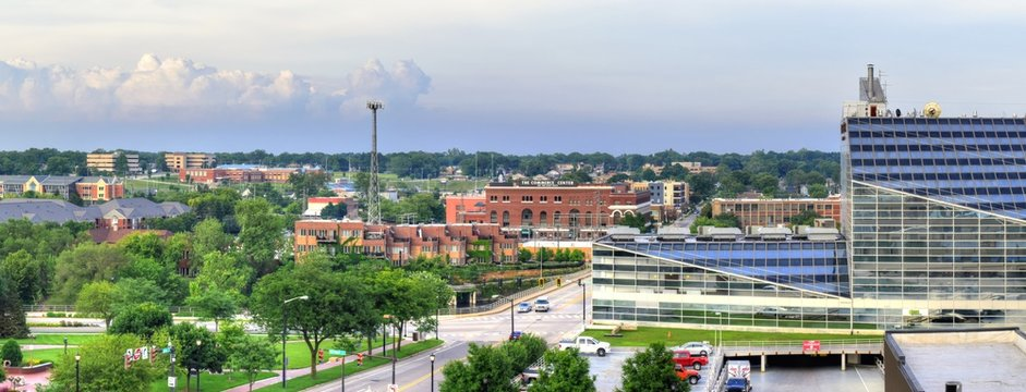 Panoramic view of South Bend, Indiana