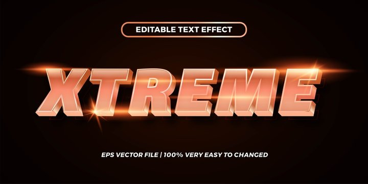 Editable text effect - Xtreme text style mockup concept