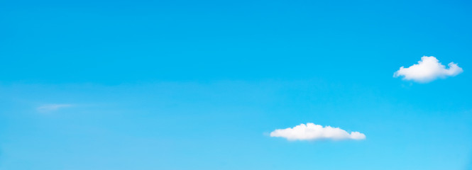 Spoed Fotobehang Blauw Cute clouds and blue sky space like anime. アニメのような可愛い雲と青空スペース
