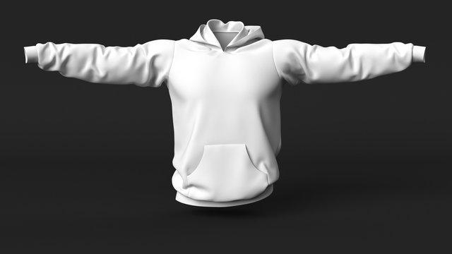 Mens Jumper clean empty template, mockup for design, logo