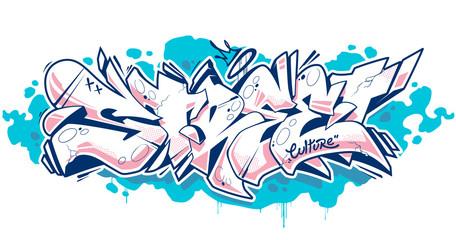 Printed roller blinds Graffiti Street Graffiti Lettering Vector Art