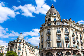 Lille, France - May 17, 2020 : Carlton hotel in Lille, luxury hotel in north of France