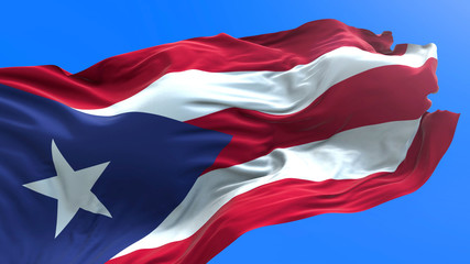 Puerto Rico flag - 3D realistic waving flag background