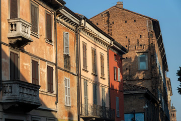 Fotomurales - Old houses of Piacenza, Italy