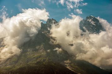 Wall Mural - Peak Of Jungfrau Mountian In Switzerland.