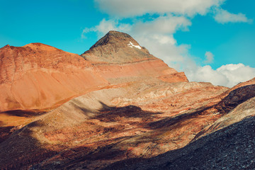 Wall Mural - Red Mountains With Blue Sky.