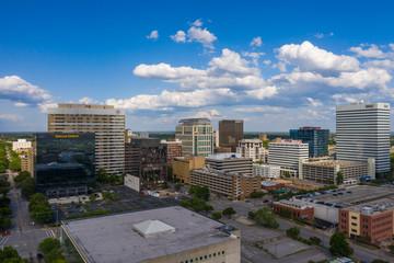 Foto op Plexiglas Zalm Aerial Panorama Of Downtown Columbia South Carolina