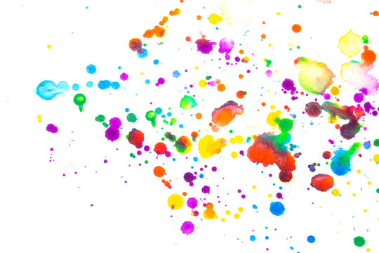 Abstract Vibrant Watercolour Splashes and Paint for Writing Over the Top or a Background