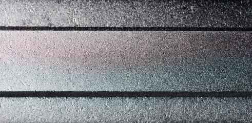Gray matte metal surface