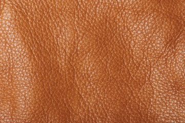 Bright brown leather surface