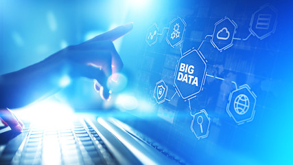 Wall Mural - Big data analytics platform, business intelligence and modern technology concept on vitual screen.