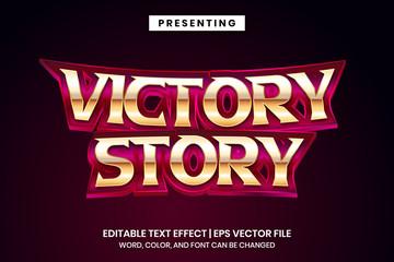 Victory story - Superhero movie logo style editable text effect