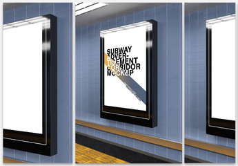 Mockup of a Subway Billboard