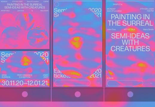 Modern Psychedelic Social Media Event Set